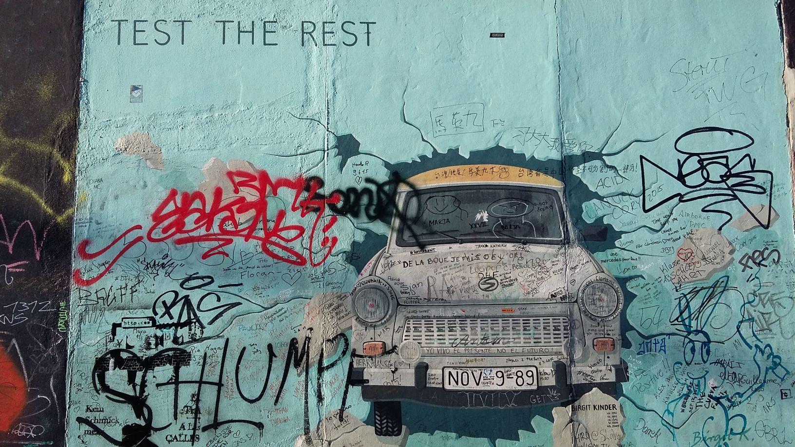 Berlin S East Side Gallery Graffiti From The Street