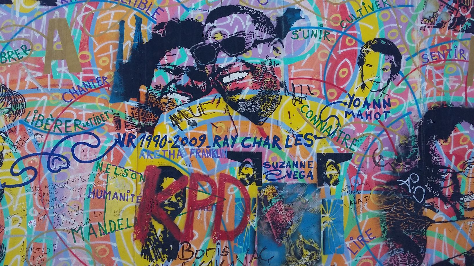 Ray charles graffiti berlin wall east side gallery