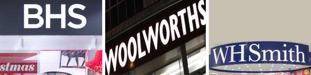 BHS Woolworths WHSmith