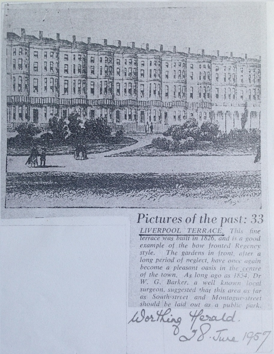 Worthing Liverpool Terrace 1826
