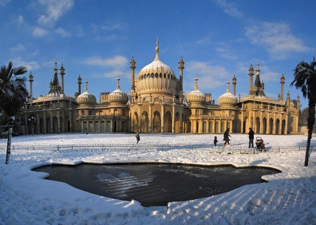Royal Pavilion Covered In Snow