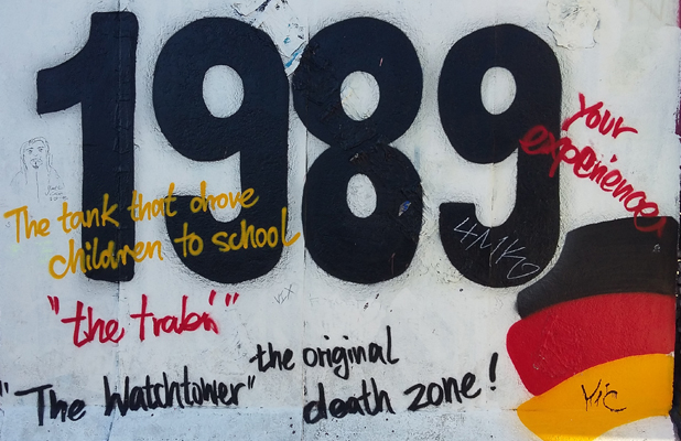 1989 Berlin Wall East Side Gallery