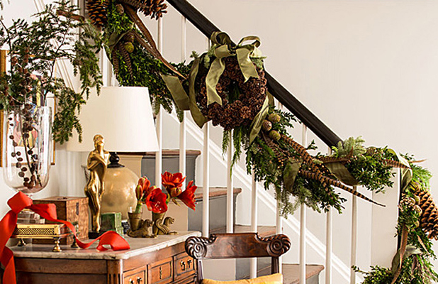 Christmas Decorated Stairs