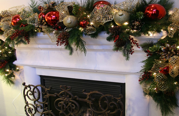 Christmas Fire Place Decorations