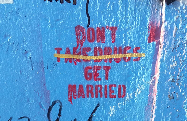 Don't Get Married Berlin Wall East Side Gallery
