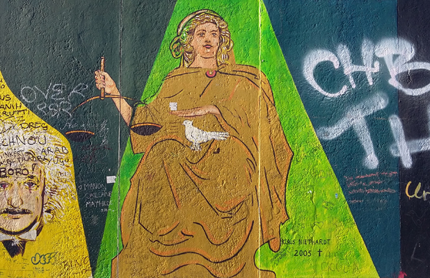 Lady Justice Berlin Wall East Side Gallery