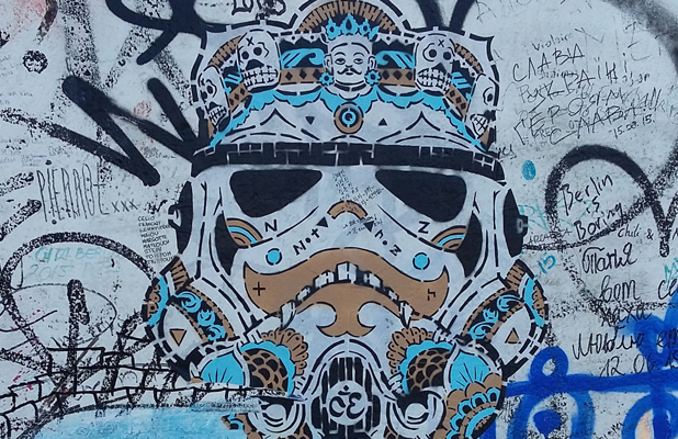 Mexican Night Of The Dead Stormtrooper Star Wars Berlin Wall East Side Gallery