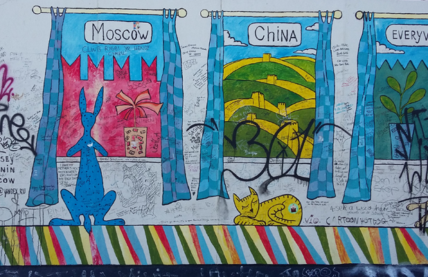 Moscow China Walls Berlin Wall East Side Gallery
