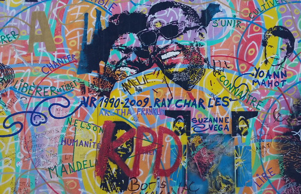 Ray Charles Graffiti Berlin Wall East Side Gallery