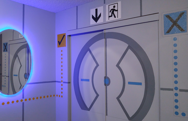 Valve's Portal Game Themed Room