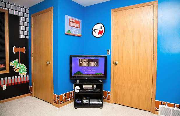 Super Mario Brothers Video Game Room