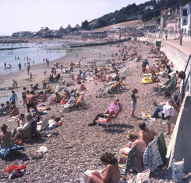 Lyme Regis Beach August 1976