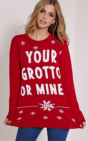Your Grotto Or Mine Red Christmas