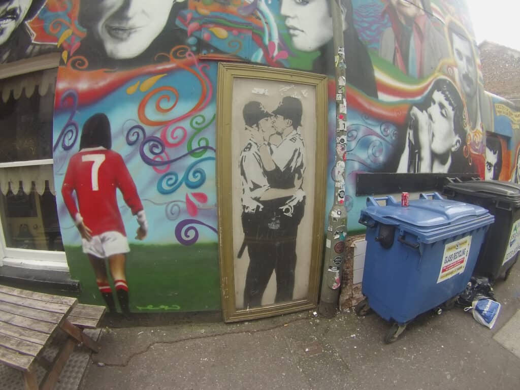 Famous Banksy Graffiti On The Prince Albert