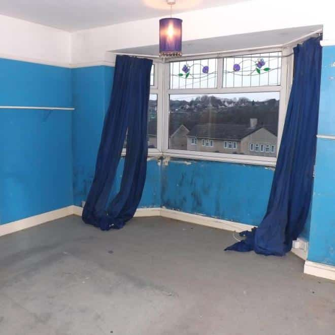 Blue walled room