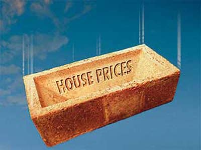 House price brick falling