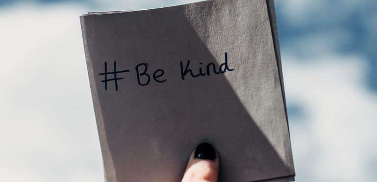 be kind post it note
