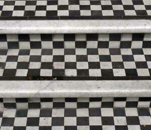 Tiled front step