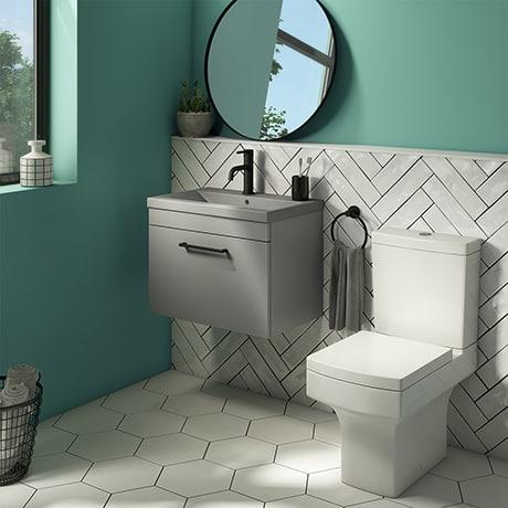 Floating vanity unit for bathroom